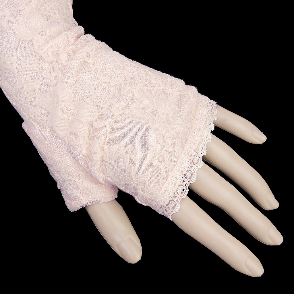 Gold driving gloves - K9 1 Pair Long Lace Uv Sun Protection