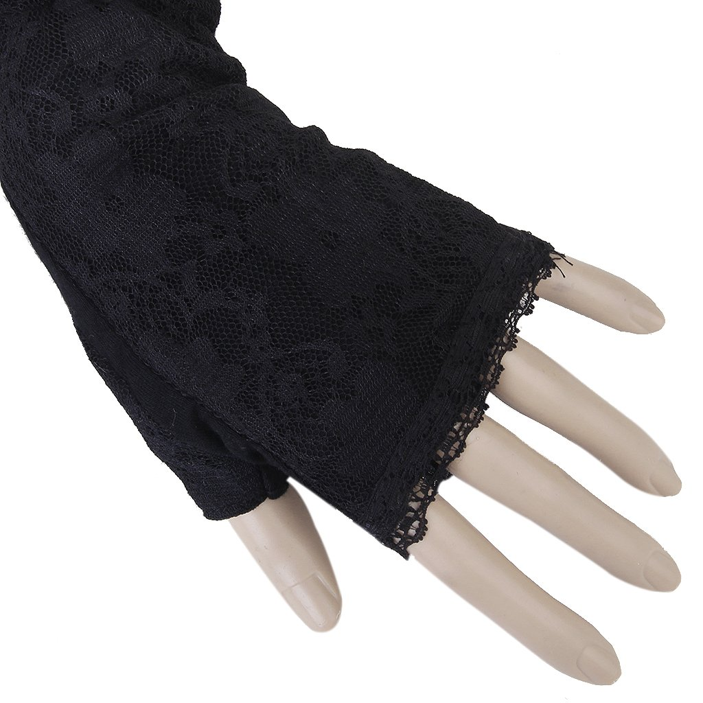 Gold driving gloves - 1 Pair Long Lace Uv Sun Protection Arm