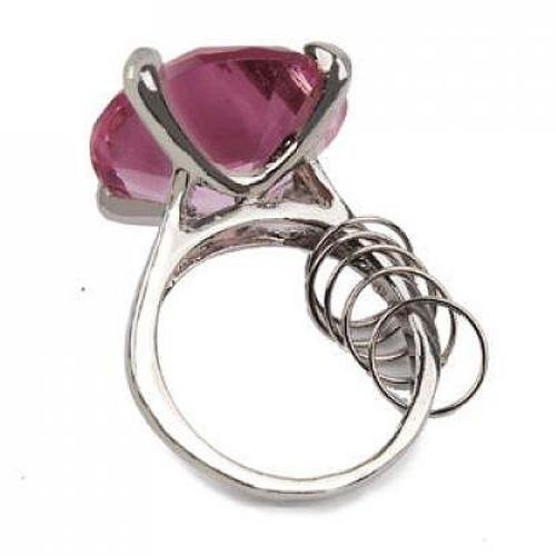 P2FR503 Anneau de Serviette Porte-cles Artificielle Diamant Rose pour ...