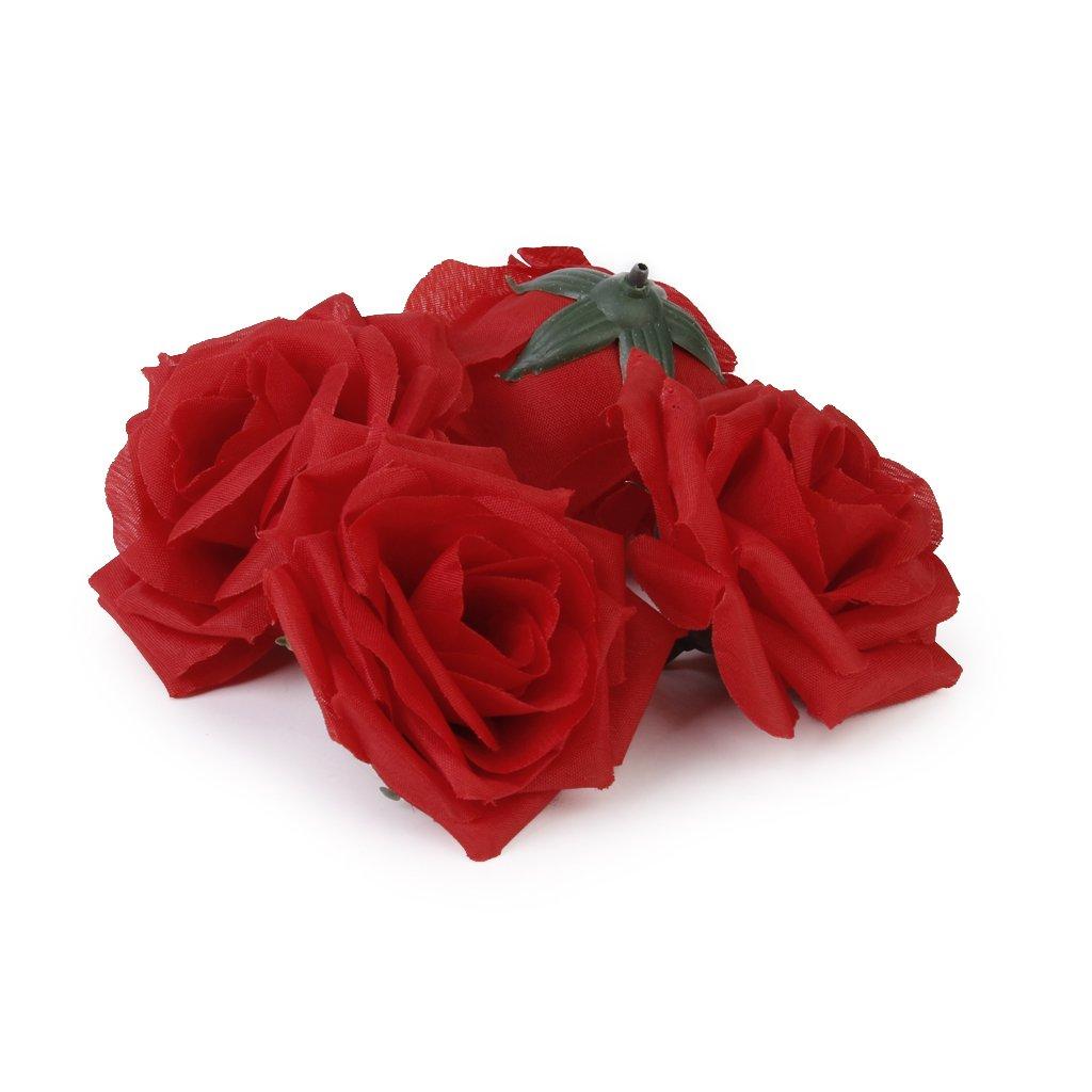 20pcs fleurs rose artificielles roses en tissu maison for Roses artificielles