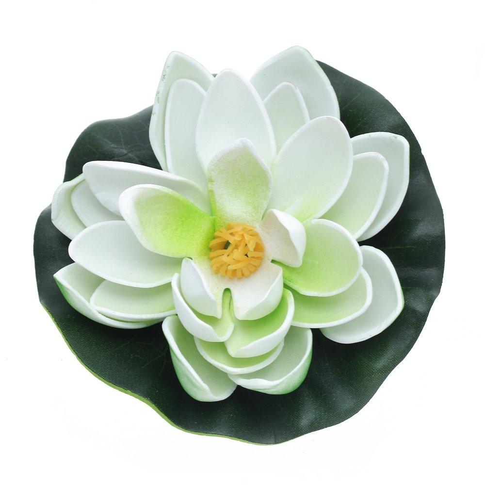 Loto artificiale di plastica eva decorazione vegetale per for Oggetti per acquario