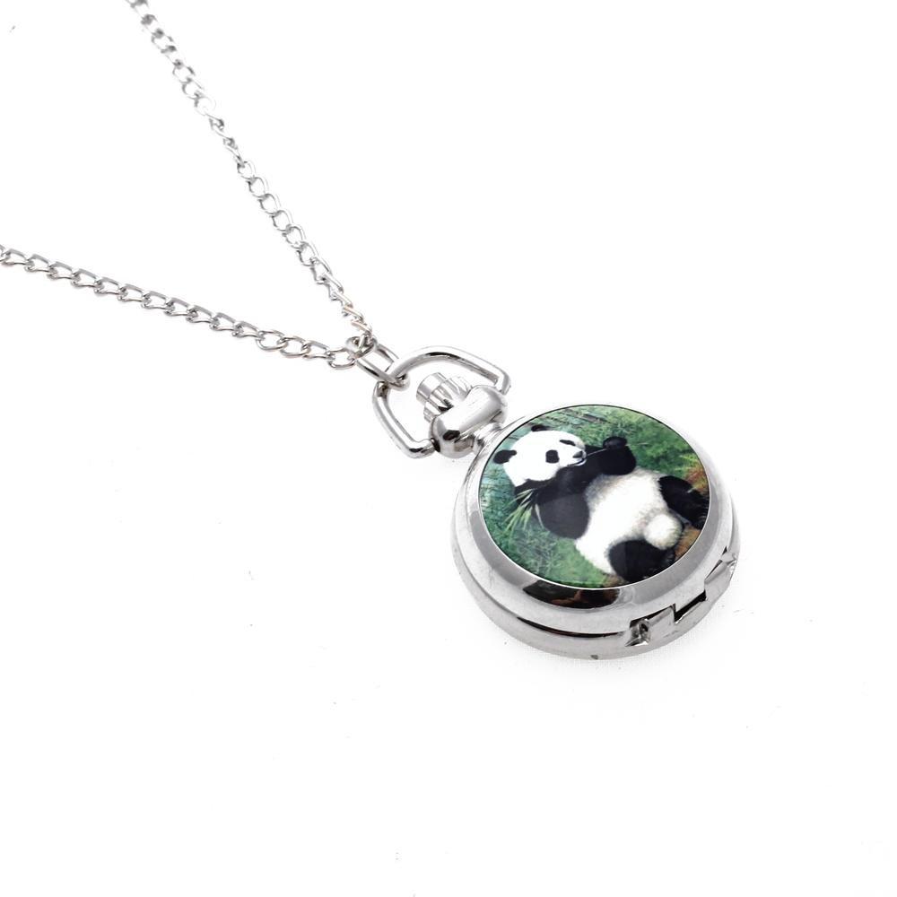 3X-Mujer-Relicario-Colgante-Cuarzo-Bolsillo-Reloj-Collar-Cadena-Plata-Esfer-Q9Q4