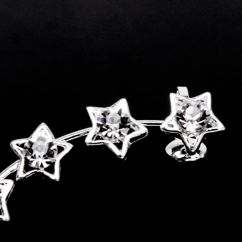 pointu etoile strass bijou d 39 oreille boucles d 39 oreilles clip enveloppe wt ebay. Black Bedroom Furniture Sets. Home Design Ideas