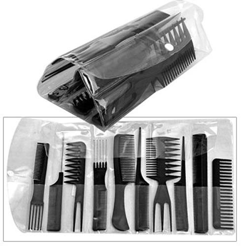 kit 10 peignes de coiffure peigne professionnel pour coiffeur wt ebay. Black Bedroom Furniture Sets. Home Design Ideas