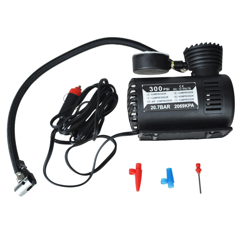 auto pompe electrique compresseur d 39 air portable 300ps. Black Bedroom Furniture Sets. Home Design Ideas