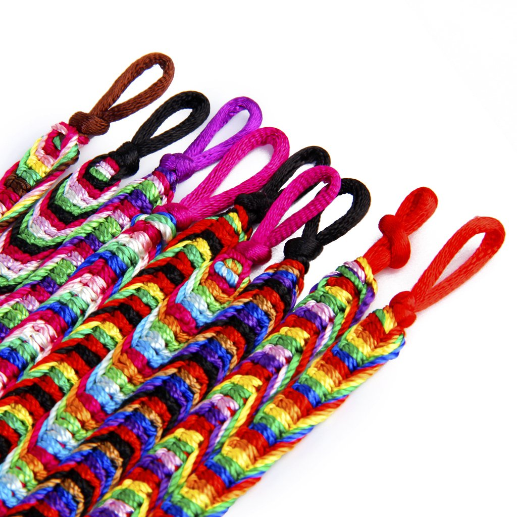 This Sale Is For 9 Thread Braided Friendship Bracelets Handmade By Skilled  Artisans Each One Varies Between 8 Inches  95 Inches
