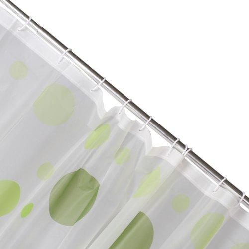 peva duschvorhang bad vorhang mit stange haken punkte muster j9i4 x3x4 ebay. Black Bedroom Furniture Sets. Home Design Ideas