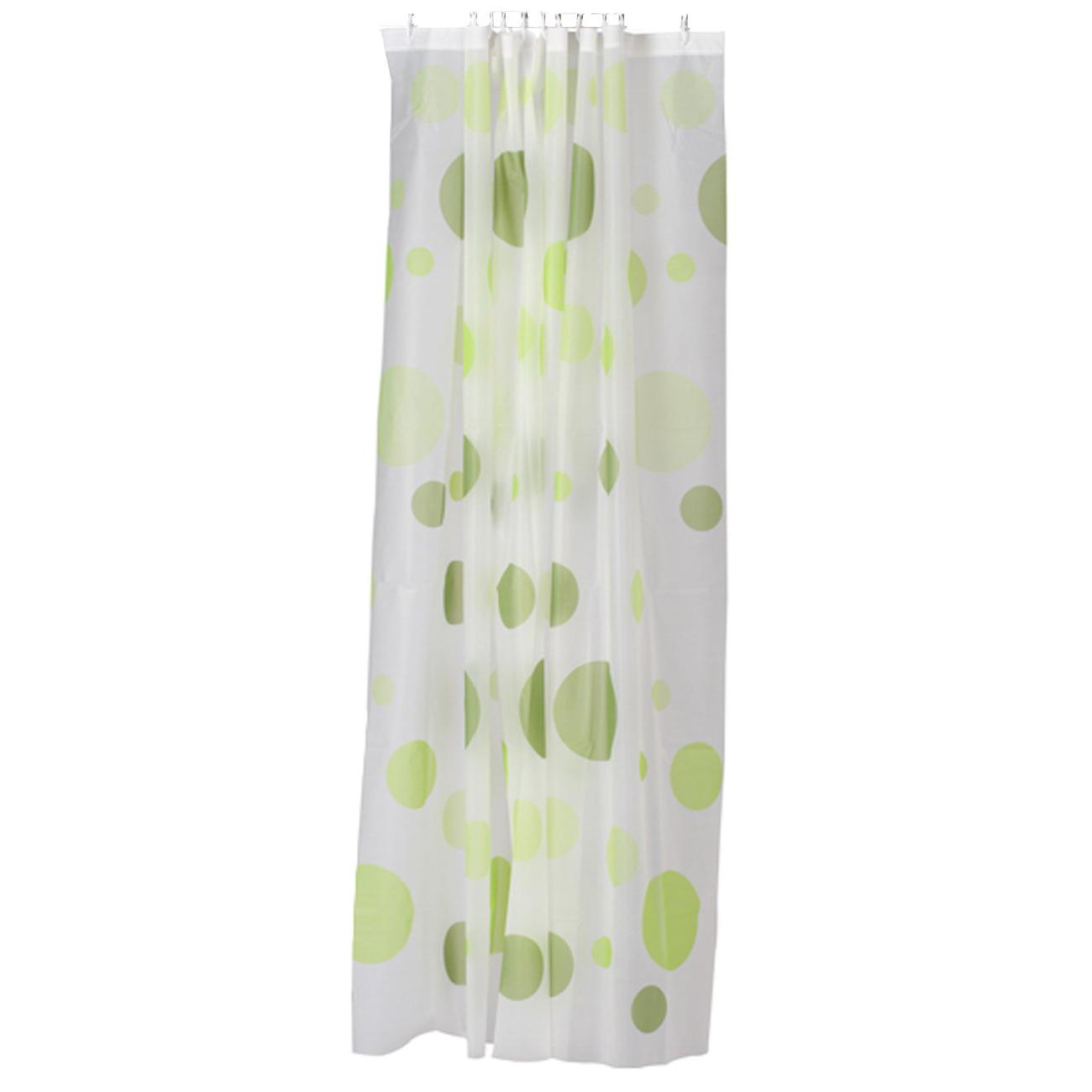 PEVA Shower Curtain Bath Curtain With Rod Hooks