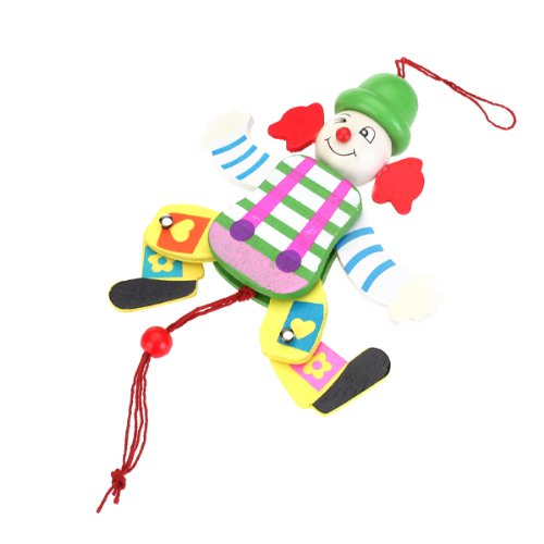 Toys For Legs : Wooden clown pull string toy arms legs go up and down kids