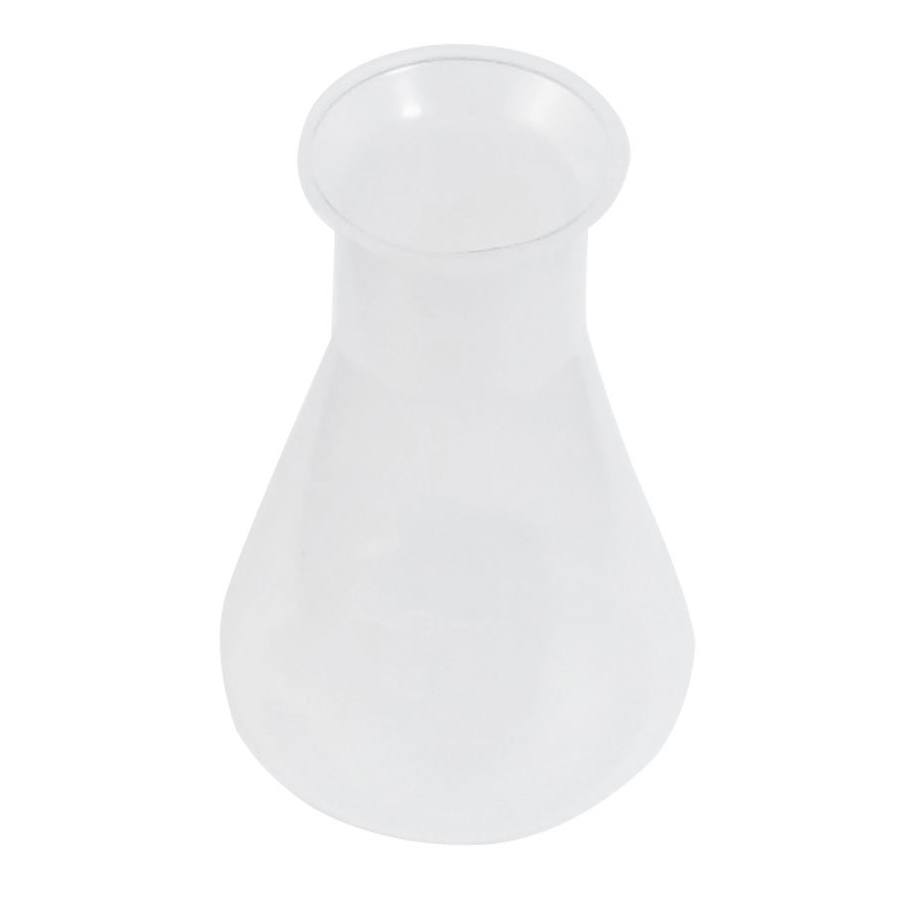 T3Y6 5X 100ml Clear White Plastic Laboratory Chemical Conical Flask Bottle T3Y6