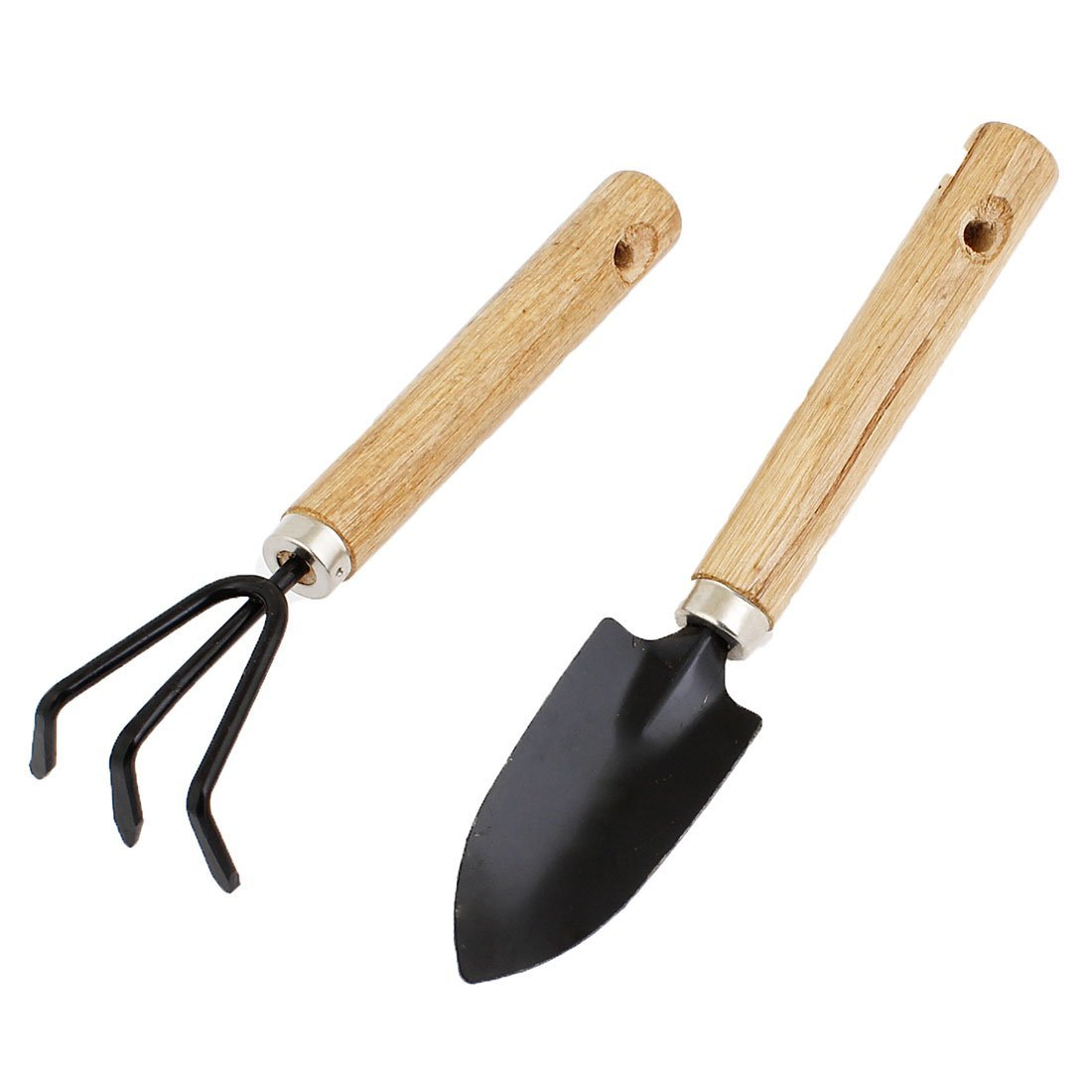 Plant garden mini tools gardening spade shovel rake set 2 for Tools for backyard gardening