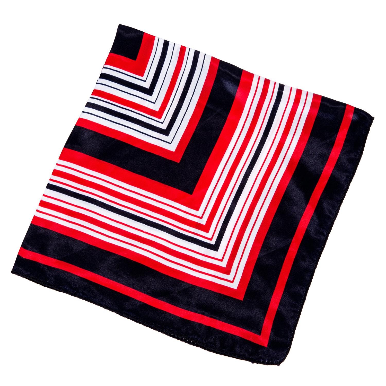dame dunkel blau rot weiss streifen drucken quadratisch halstuch hals schal j7r4 ebay. Black Bedroom Furniture Sets. Home Design Ideas