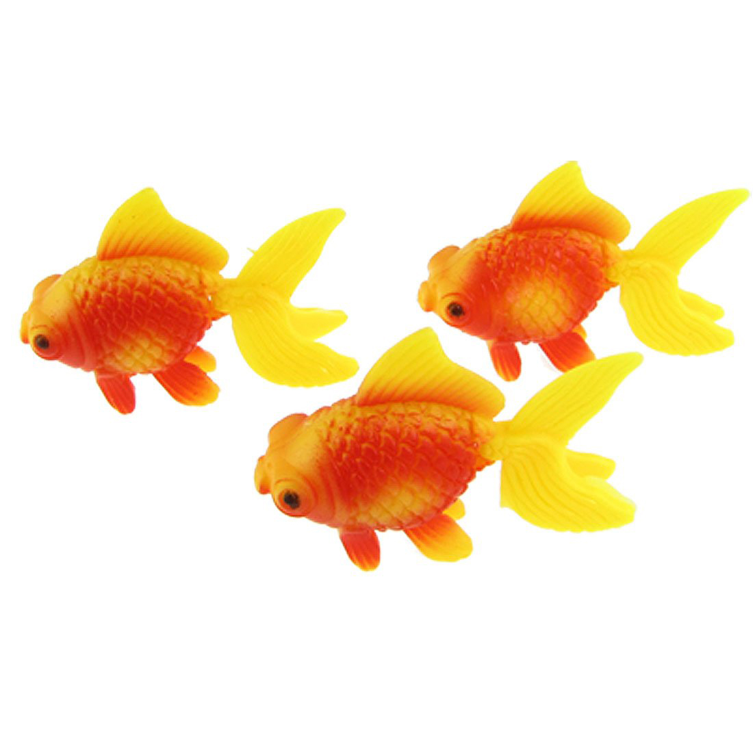 aquarium fish tank plastic swimming gold fish decoration 3 pcs wd ebay