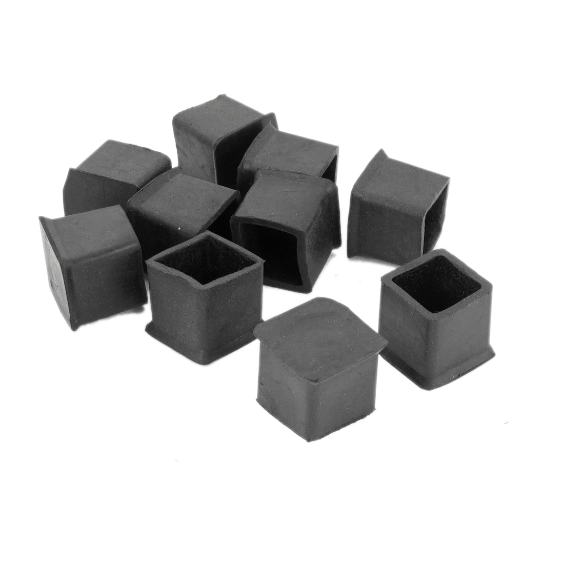 10 pcs rubber 25mm x 25mm furniture chair legs covers for Furniture guard