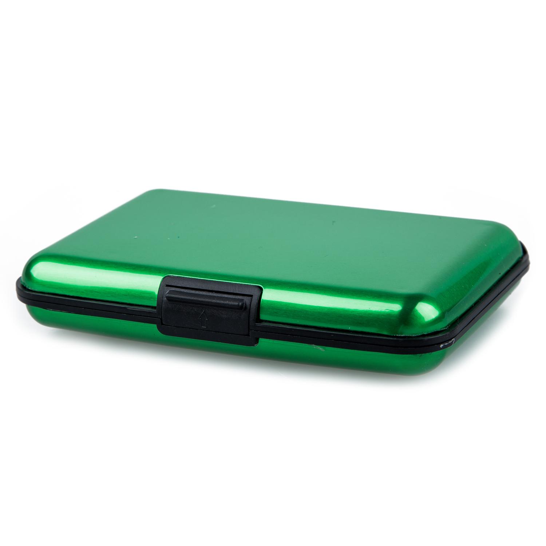business id credit card holder wallet aluminum metal case box golden f6 ebay. Black Bedroom Furniture Sets. Home Design Ideas