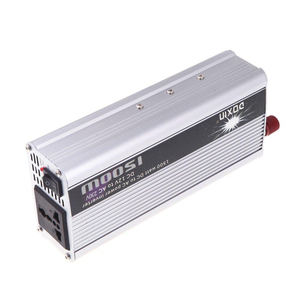 doxin 1500w dc 12v to ac 220v portable car power inverter. Black Bedroom Furniture Sets. Home Design Ideas