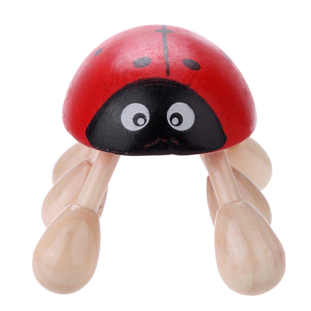 ladybird six foot holz kopfmassagegeraet head massager rot kaefer de ebay. Black Bedroom Furniture Sets. Home Design Ideas