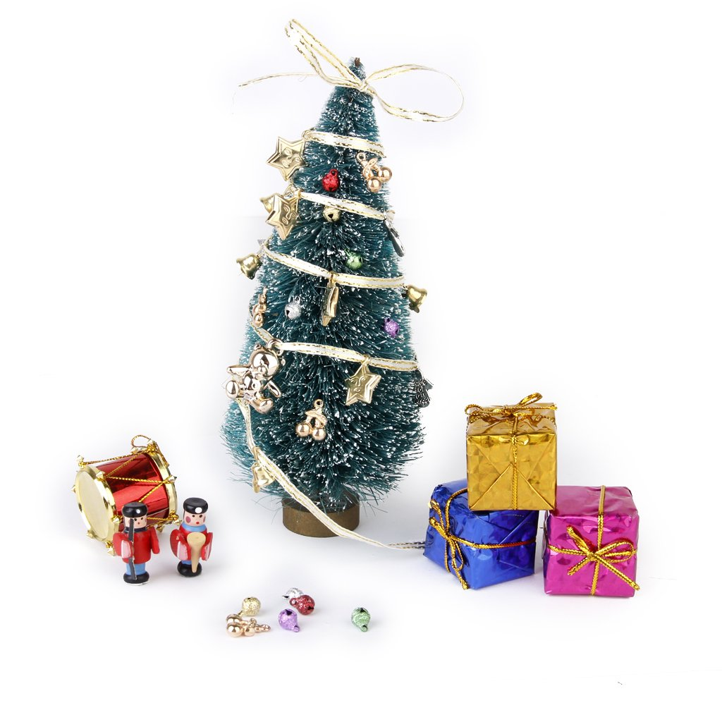 puppenhaus miniatur weihnachtsbaum verzierungen 1 12. Black Bedroom Furniture Sets. Home Design Ideas