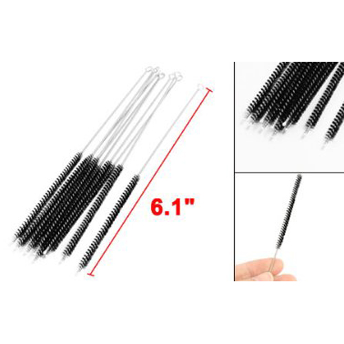 10pcs4 5mdia chemistry test tube bottle nylon washing brush black