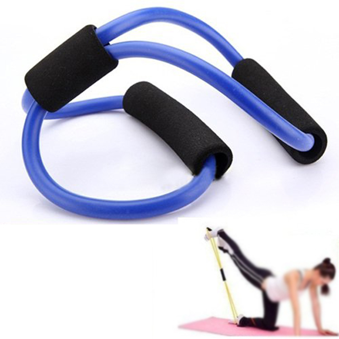 Resistance Bands Tube Stretch Fitness Pilates Exercise