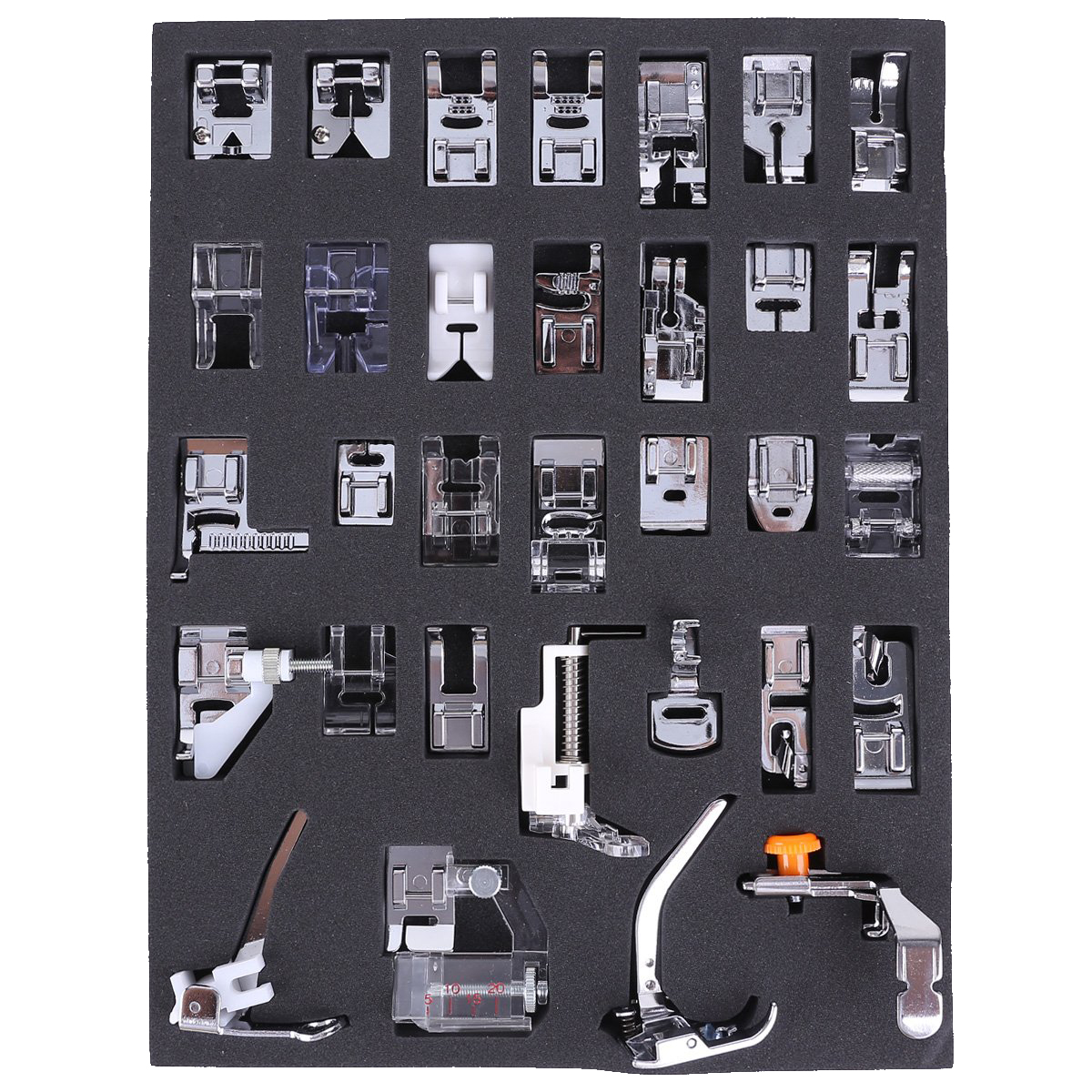 32pcs pieds de biche multifonctionnel pour machine a coudre y3 ebay. Black Bedroom Furniture Sets. Home Design Ideas