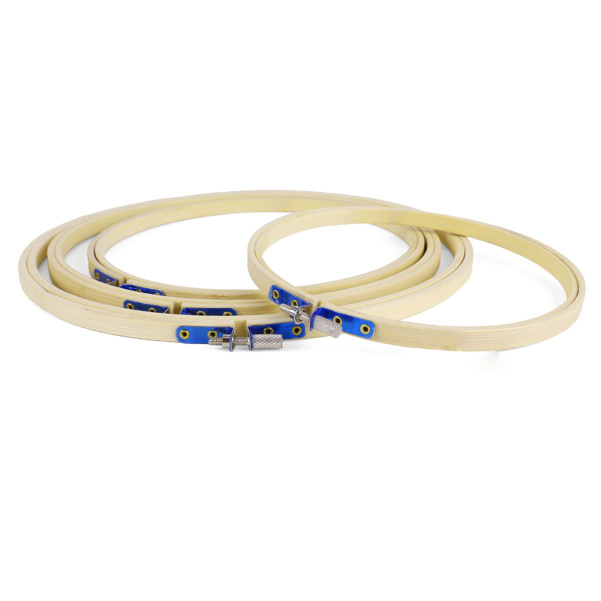 2X-4x-Embroidery-hoop-bamboo-Circle-Embroidery-cross-stitch-17-20-23-26cm-DW