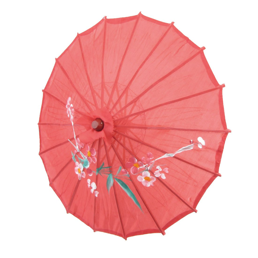 Vintage Home Decorations B3 Red Cloth Bamboo 21 Quot Dia Chinese Oriental Umbrella