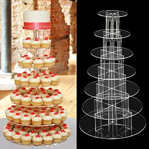 tier round clear acrylic party wedding cake cupcake stand 14q4 ebay