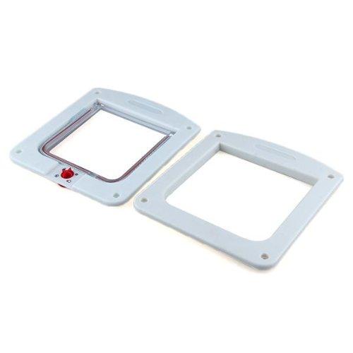 Chatiere Porte en Plastique Blanc 4 Positions pour Chat Chien WT 2