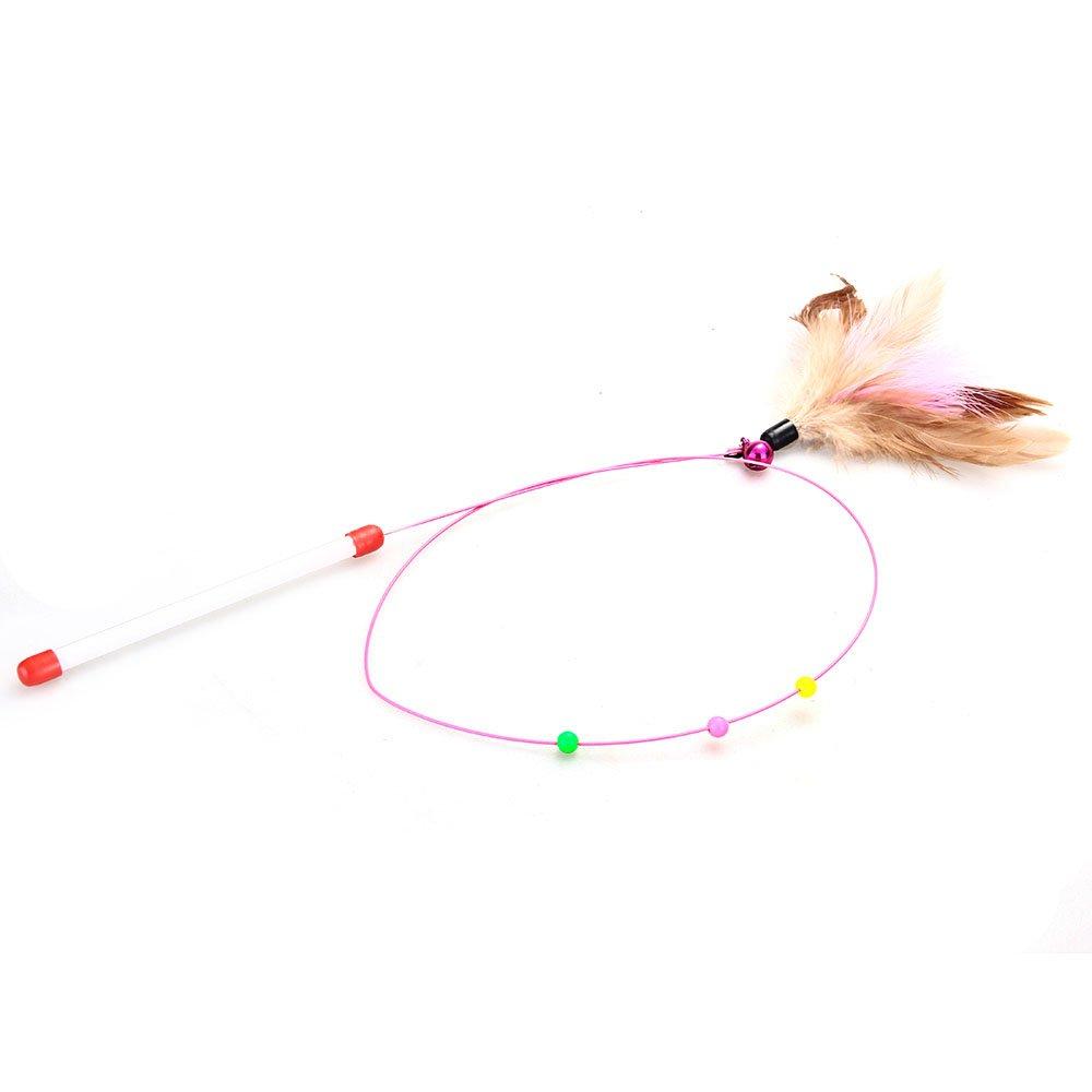 Baton Jeu a Colore Balle Jouet pour Chat Chaton Animaux 15.5cm WT