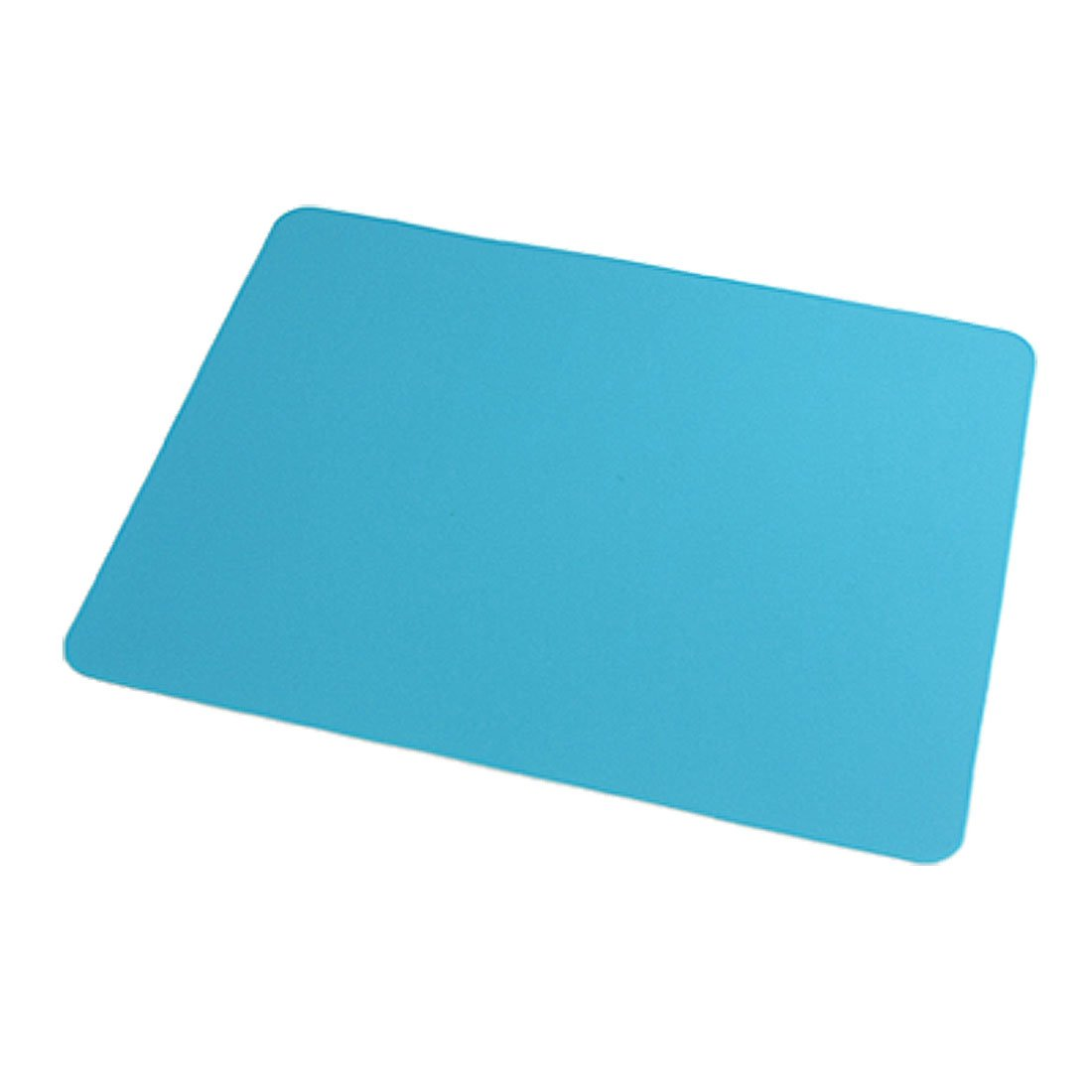 Rectangle Sky Blue Silicone Nonslip Mouse Pad Mat For