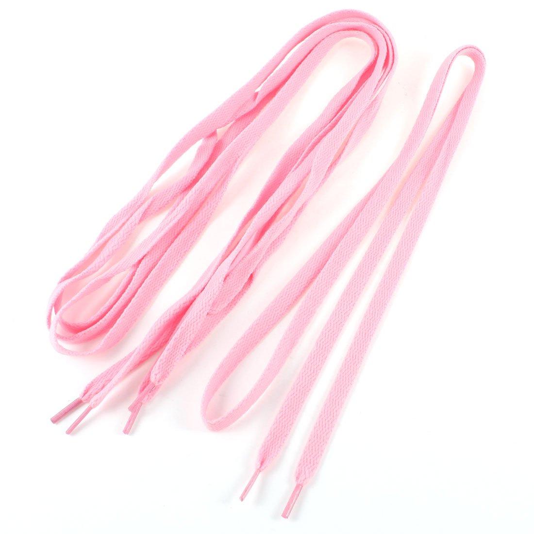 pink flat shoelaces trainer sport boot shoe laces 2