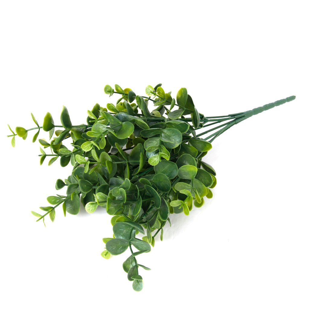 Artificial plastic plant grass for home decoration green for Artificial leaves for decoration