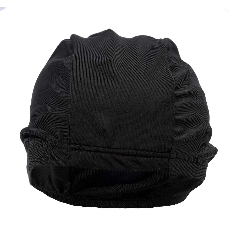 5X Children Black Pure Color Fiber Elastic Swimming Swim Cap Hat T3Y6