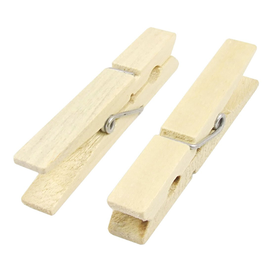 Wooden Clothes Pins Pegs Hanging Clips 24 Pcs Ps