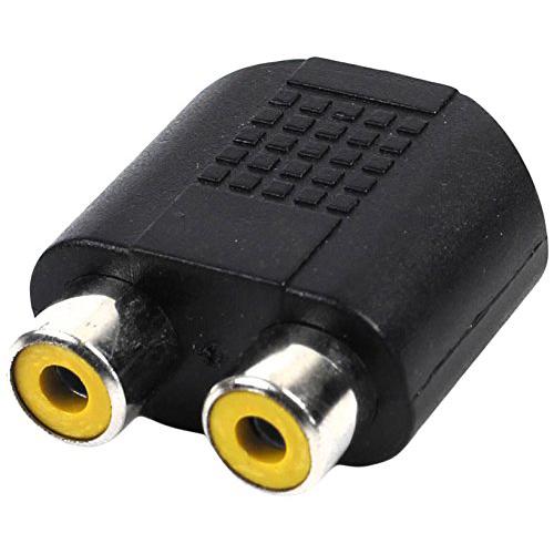 femelle prise a double rca femelle phono adaptateur connecteur m1. Black Bedroom Furniture Sets. Home Design Ideas