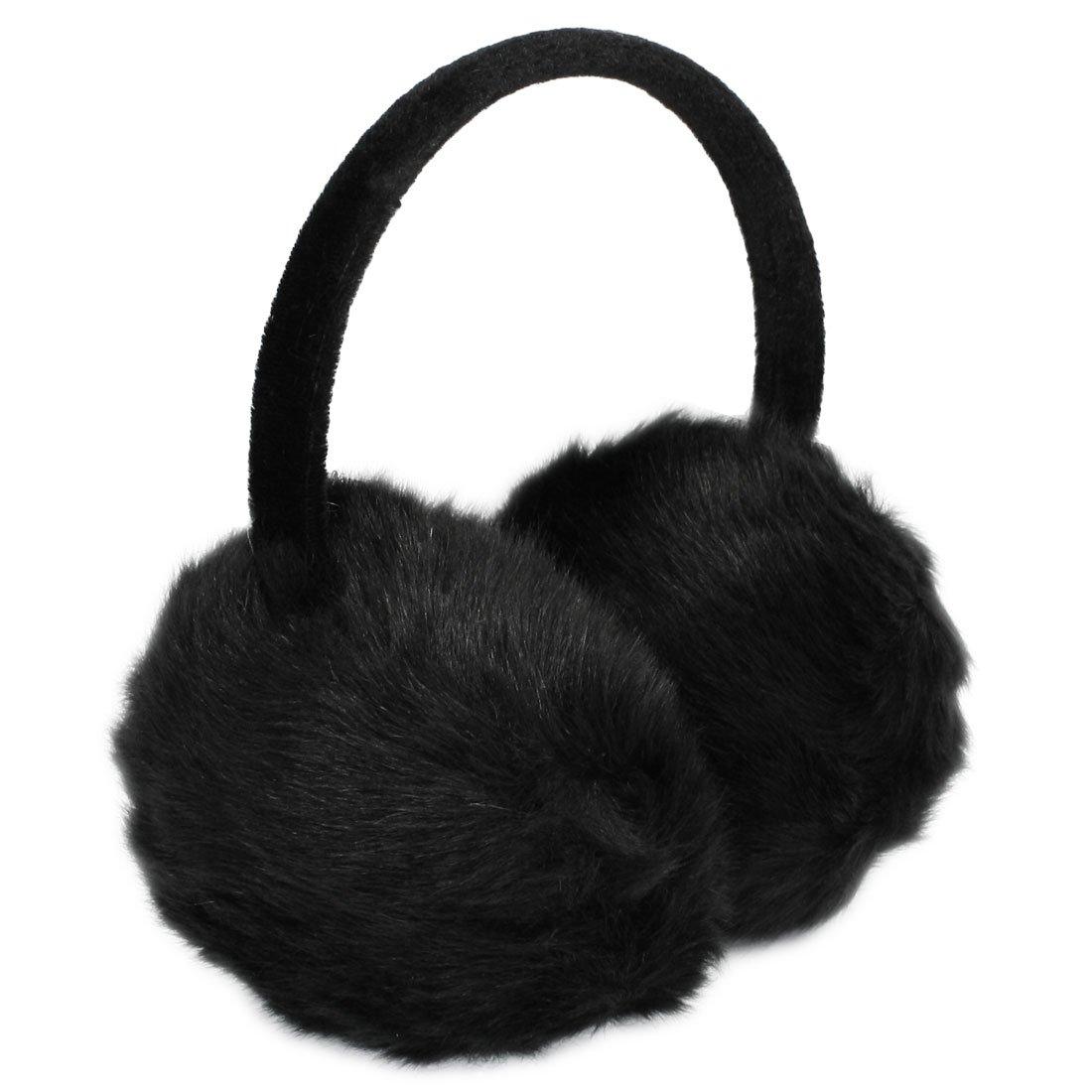 h1 lady woman headband black faux fur winter ear cover. Black Bedroom Furniture Sets. Home Design Ideas