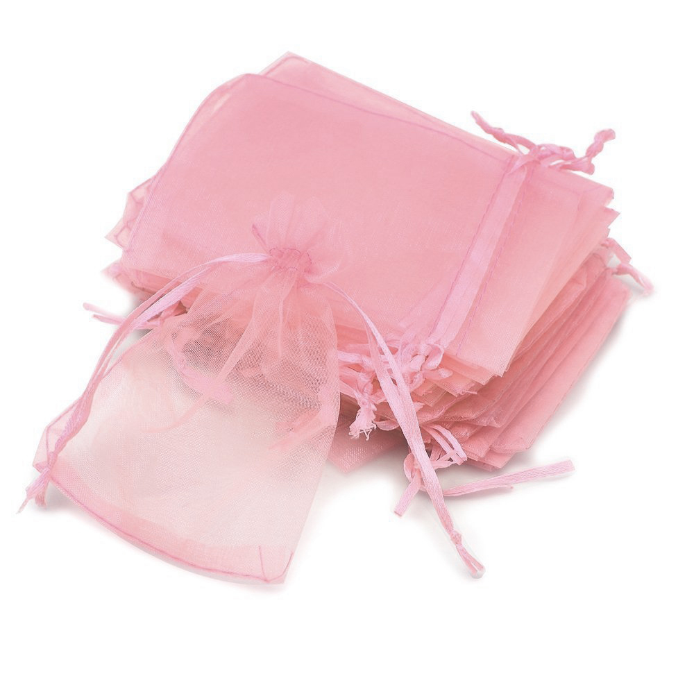 Wedding Gift Pouches: 100 Pcs Organza Pouch Wedding Favor Gift Bags Jewellery