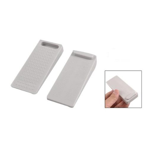Pair light gray rubber nonslip door wedge stop stoppers wd ebay - Rubber door stoppers ...