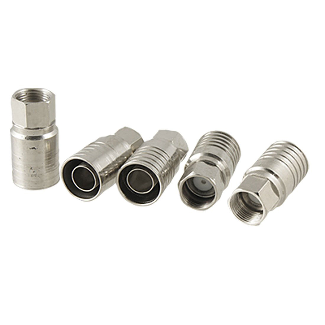Pcs silver tone crimp type f connector for rg cable