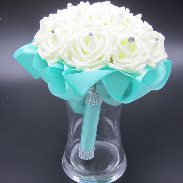 Turquoise And White Wedding Flowers Images - Flower Decoration Ideas