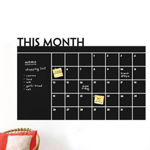 diy monthly chalkboard calendar planner vinyl wall chalkboard calendar wall decal by household words modern