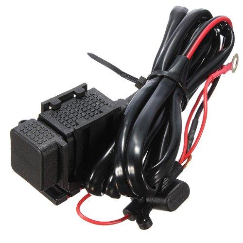 cable chargeur etanche prise power 2 usb guidon moto m1 ebay. Black Bedroom Furniture Sets. Home Design Ideas