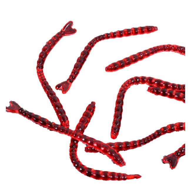 W2N9 5X 200pcs worm lures 2.3cm soft bait carp fishing lure set artificial W2N9