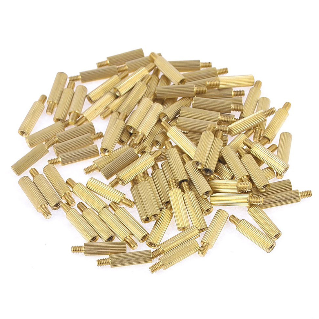 5X 100 Pcs Male Female PCB Thread Brass Pillars Standoff Spacers W2N9
