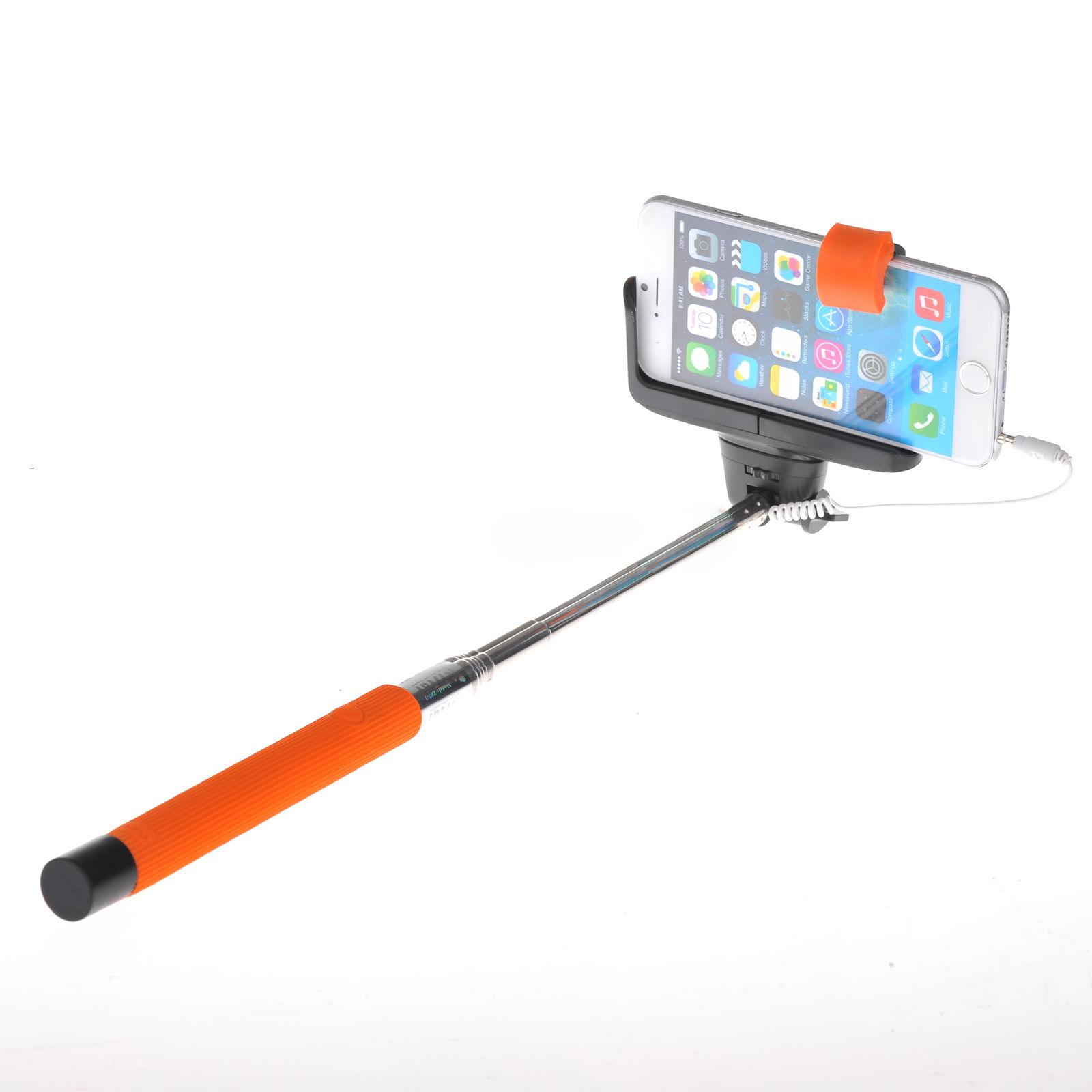 wired shutter extension pole mount monopod selfie stick holder for iphone f6 ebay. Black Bedroom Furniture Sets. Home Design Ideas