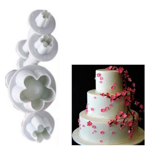 Fondant Cake Decorations Uk : 4Pcs/Set Fondant Cake Decorating Plunger Cutter Mold Tools ...
