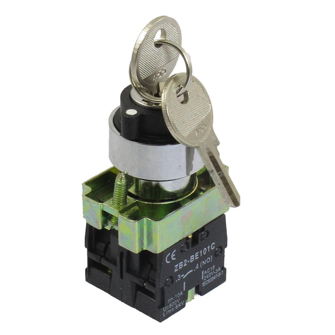 5x 22mm Three 3 Position Keylock Selector Select Switch