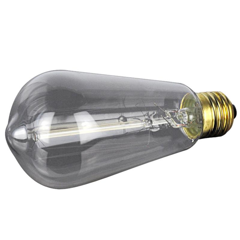 T10 E26 E27 4w Led Vintage Antique Filament Light Bulb: E27 40W Vintage Retro Filament Edison Tungsten Light Bulb