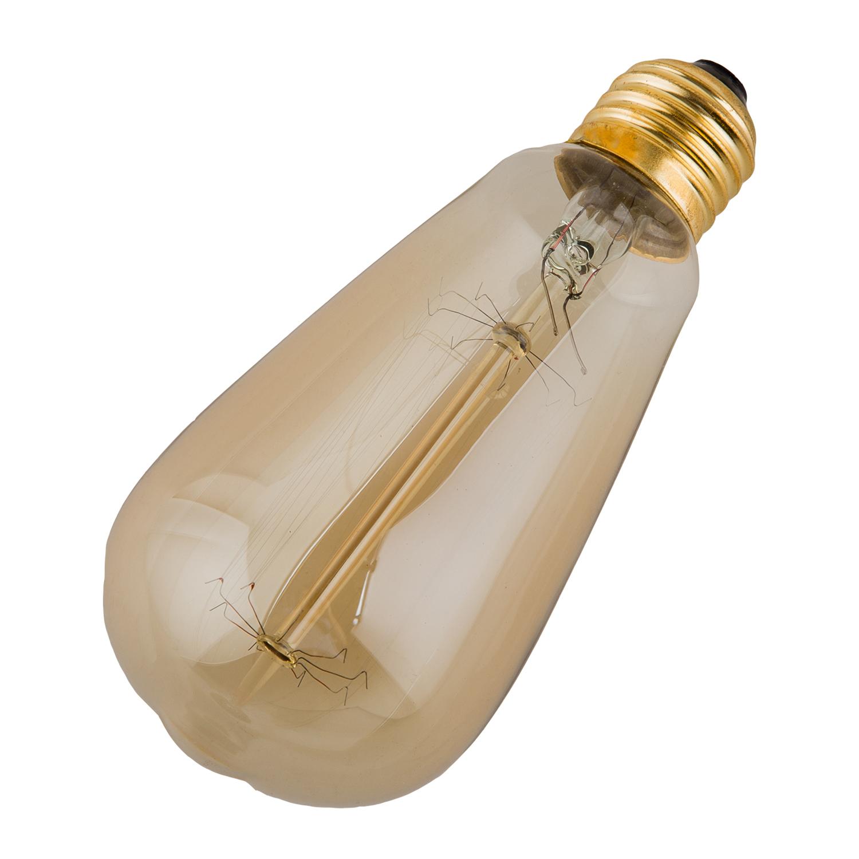 edison lampe warmweiss vintage gluehbirne retro licht. Black Bedroom Furniture Sets. Home Design Ideas